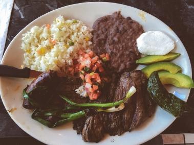 Our lunch = authentic Honduran cuisine
