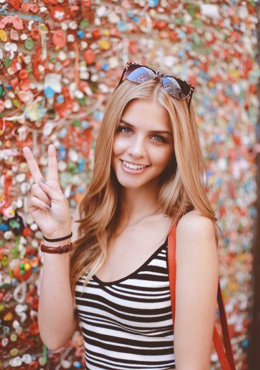 The gum wall in Post Alley
