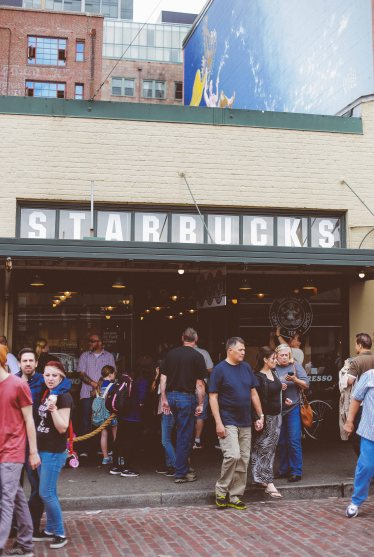 The first ever Starbucks location