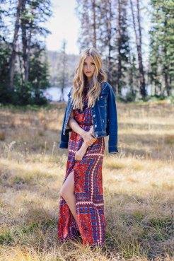 Dress: Band of Gypsies, Jean jacket: Aeropostale