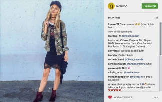 I got featured on @forever21!